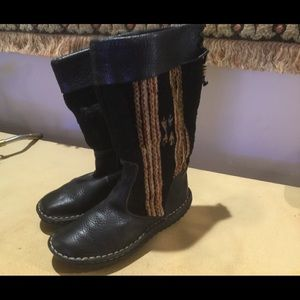 Born Pebbled Leather/Wool Boots FIRM